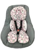 Almofada Para Bebe Conforto Suporte Carrinho Redutor Chevron Rosa - Lika Baby