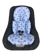 Almofada Para Bebe Conforto Suporte Carrinho Redutor Coroa Azul - Casa Home