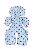 Almofada Para Bebe Conforto Suporte Carrinho Redutor Coroa Azul - Lika Baby