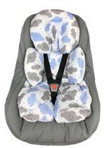 Almofada Para Bebe Conforto Suporte Carrinho Redutor Nuvenzinha Azul - Casa Home