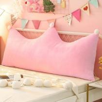 Almofada Para Cabeceira Cama Casal Box Pallets Leitura na Cama Encosto Lombar Decoração Rosa Capa com Zíper - Melvinn Home Store