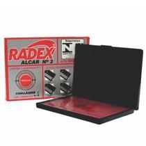 Almofada para Carimbo Vermelho N.3 Radex -