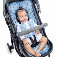 Almofada Para Carrinho de Bebê Universal - Coroinha Azul - Click Tudo