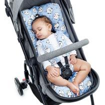 Almofada Para Carrinho de Bebê Universal - OVELHA AZUL - Click Tudo