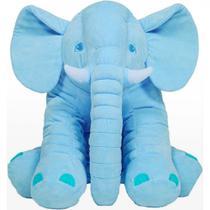 Almofada Pelucia Elefante Azul Gigante, Buba  Buba Toys -