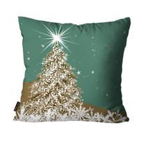 Almofada Premium Cetim Mdecore Natal Arvore de Natal Verde -