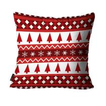 Almofada Premium Cetim Mdecore Natal Arvore de Natal Vermelha -
