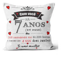 Almofada presente aniversario namoro casamento 1-10 ano 30cm - Atelie Dani Artes
