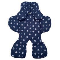 Almofada Protetor Bebê Conforto Menino Coroa Azul Marinho - Confecções Pingo De Gente