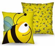 Almofada quadrada -bichinhos - abelhinha - Brasfoot