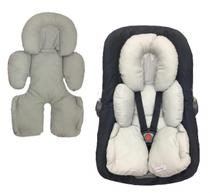 Almofada Redutor Robo Para Carrinho de Bebe e Bebe Conforto Liso Cinza - Lica Baby