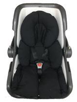 Almofada Redutor Robo Para Carrinho de Bebe e Bebe Conforto Liso Preto - Lica Baby