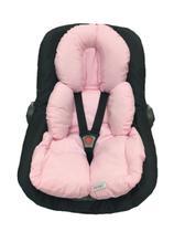 Almofada Redutor Robo Para Carrinho de Bebe e Bebe Conforto Liso Rosa - Lica Baby