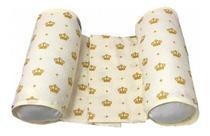 Almofada Rolinho Segura Bebê Protetor Lateral 100% Algodão - Coroa Amarela - Lika Baby