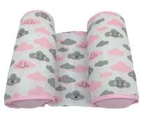 Almofada Rolinho Segura Bebê Protetor Lateral 100% Algodão - Nuvem Rosa - Lika Baby