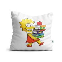 Almofada simpsons lisa livros - Canecas Personalizadas