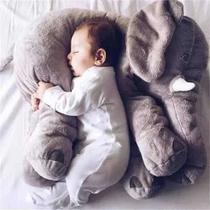 Almofada Travesseiro Elefante Bebê Dormir Pelúcia Cinza 60cm - Rg Toys