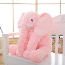 Almofada Travesseiro Elefante Bebê Dormir Pelúcia Rosa 62cm - Baby'S Fraldas