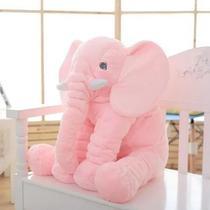 Almofada Travesseiro Elefante Bebê Dormir Pelúcia Rosa 62cm - Babys Fraldas
