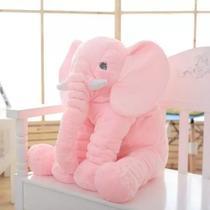 Almofada Travesseiro Elefante Bebê Dormir Pelúcia Rosa - Babys fraldas