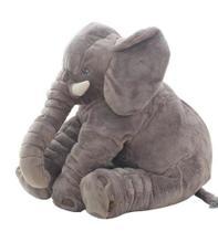 Almofada Travesseiro Elefante de Pelúcia para Bebê Dormir Cinza 45cm - BabyRu - Doce Lar Enxovais