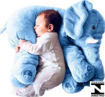 Almofada Travesseiro Elefante Pelúcia Bebê Dormir Grande 62cm - Ursos e Pelúcias