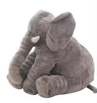 Almofada Travesseiro Elefante Pelúcia Cinza - Lovely Decor