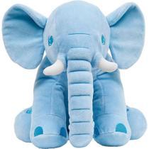 Almofada Travesseiro Elefante Pequeno De Pelúcia Azul - Buba