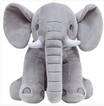 Almofada Travesseiro Elefantinho De Pelúcia Cinza - Buba
