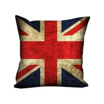 Almofada Valverde Bandeira Reino Unido 42x42cm - Uniart