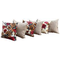 Almofadas Decorativas 6 Unidades Com Ziper e Refil de Silicone - Rt Magazine