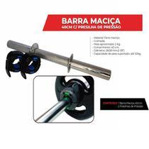 Alteres Academia Barra Maciça 40cm c/ Presilha De Pressão - Tshoes