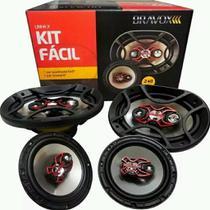 Alto Falante Bravox Kit Fácil X 6 B3x60x + 6x9 B4x69x 240w -