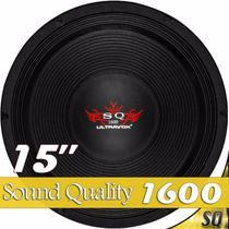 """Alto falante de 15"""" 1600 rms sound quality ultravox -"""