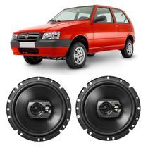 Alto Falante Fiat Uno Mille 2004 a 2015 Pioneer 6 Polegadas 120W RMS 2 Portas Kit -
