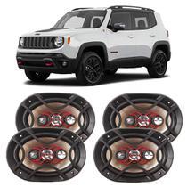 Alto Falante Jeep Renegade 2016 a 2021 Bravox X 6x9 Polegadas 280W RMS 4 Portas Kit -