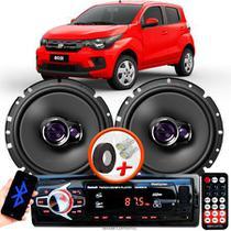 """Alto Falante Pioneer Fiat Mobi Dianteiro Ts-1760br 6"""" 100W RMS  4 Ohms Triaxial Bobina Simples Par + Rádio Com Bluetooth - Kit Delparts"""