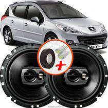 """Alto Falante Pioneer Peugeot 206 SW Dianteiro Ts-1790br 6"""" 120W RMS  4 Ohms Triaxial Bobina Simples Preto Par -"""