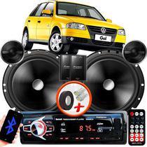 """Alto Falante Pionner VW GOL G4 Dianteiro 2 Vias TS-C170BR 6"""" 120W RMS + Tweeters + Crossovers Par + Rádio Com Bluetooth - Kit Delparts"""