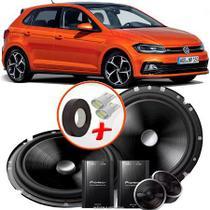 "Alto Falante Pionner VW Polo Hatch Dianteiro 2 Vias TS-C170BR 6"" 120W RMS + Tweeters + Crossovers Par - Pioneer"
