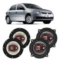 Alto Falante Volkswagen Gol G5 2008 a 2012 Bravox X 6 e 5 Polegadas 200W RMS 4 Portas Kit -