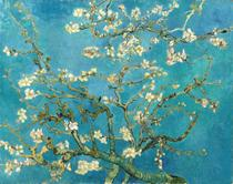 Amendoeira em Flor - Vincent van Gogh - 50x63 - Tela Canvas Para Quadro - Santhatela