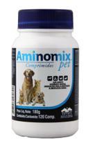 Aminomix pet comprimido c/120 comprimidos vetnil suplemento alimentar validade 04/21 -