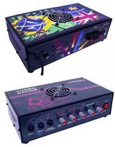 Amplificador de Mesa Trinity Turbo Dance 5.1 300W RMS 2 Canais - Ideal Para Som de Igrejas Lojas Casa -
