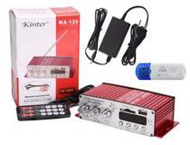 Amplificador de som com 2 canais Kinder 40 RMS -