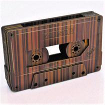 Amplificador de Som Porta Celular - Fita Cassete Marrom - Cia Laser