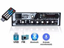 Amplificador Receiver Boog Usb Bluetooth Som Ambiente 300 W MX 2000 -