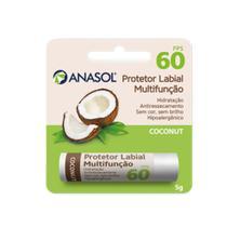 Anasol Protetor Solar Labial FPS 60 Coconut Côco 5 g -