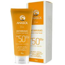 Anasol viso protetor solar facial antirrugas fps 50 75g -