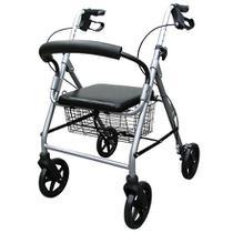 Andador Com 4 Rodas Dobravel Aluminio 2037 Praxis -